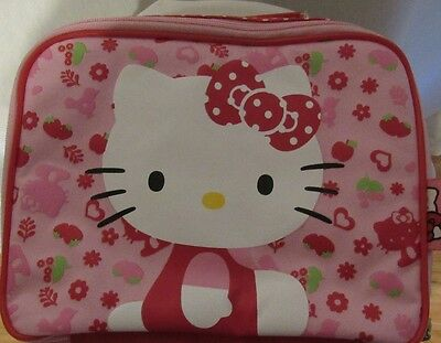 New Sanrio Berries&flowers Soft Sided Hello Kitty Insulated Zipper Lunchbox