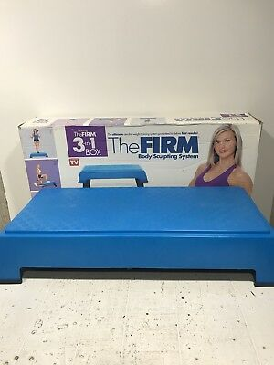 THE FIRM BOX Body Sculpting System Step Stepper 2 Levels USA Cardio  Exercise F/S