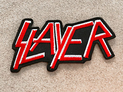 Slayer Sew Iron On Patch Badge Rock Band Heavy Metal Logo Music Sew Embroidery