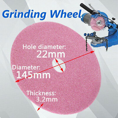 145x 3.2mm Grinding Wheel Disc for Chainsaw Sharpener Grinder 3/8lp & .325 Chain