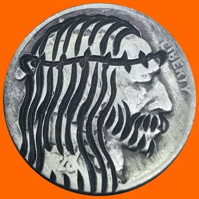 Jesus Hobo Nickel Art Coin