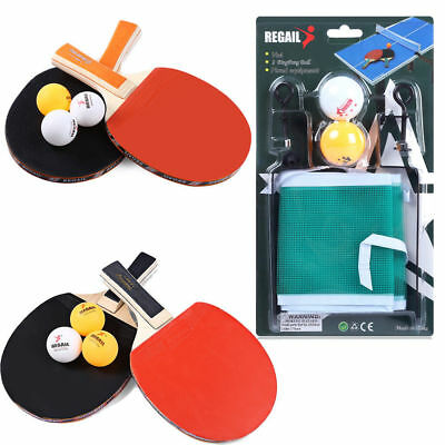 HOT!! REGAIL Table Tennis Ping Pong Racket Long Handle Bat Paddle Balls Net Set
