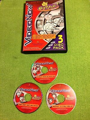 Videonow The Fairy Odd Parents 3 Disc Pack For Pvd Player ~ 6 Episodes Exc