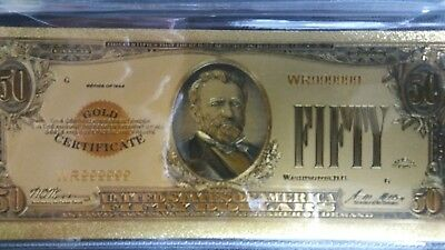 1928 $50 Gold Note with Certificate of Authenticity