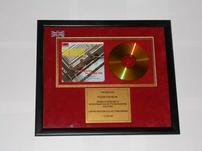 The Beatles Please Please Me. Ltd Edition Gold Plated CD Collectors Disc.13/500