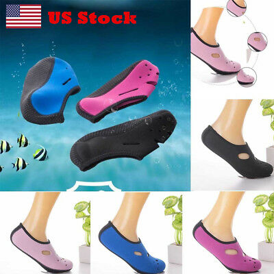 Men Women Slip on Water Skin Shoes Beach Swim Diving Wetsuit Surf Aqua Socks USA
