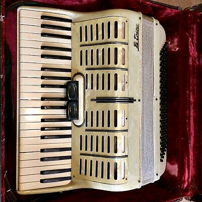 Rare La Tosca Fiesta Accordion(MADE IN ITALY) ANTIQUE - Mother of Pearl Keys.