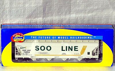HO C9 Athearn SOO Line ACF 5250 Centerflow Covered Hopper Road # 74094