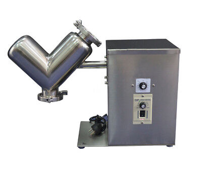 VH2 V Type Dry Powder Mixer Mixing Machine Speed Control Blender with Timer 220V
