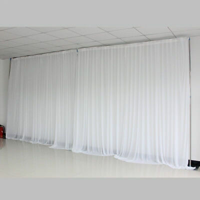 10 20ft Pure White Wedding Props Event Stage Decorations Backdrop Curtains