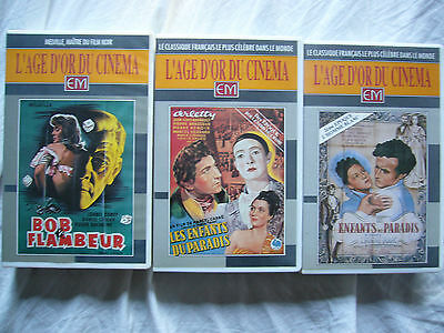 Joblot2 French Films Les Enfants Du Paradis Bob Le Flambeur Pal Vhs Smallboxes