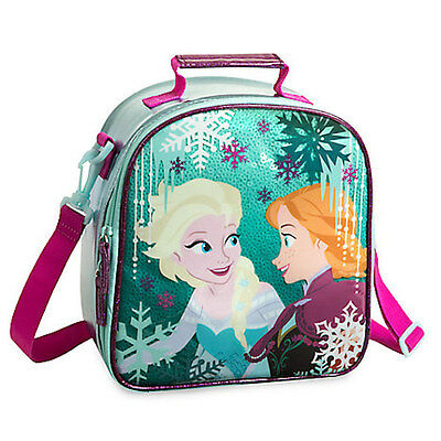 NWT Disney Store Frozen Elsa And Anna Lunch Tote Box Bag School