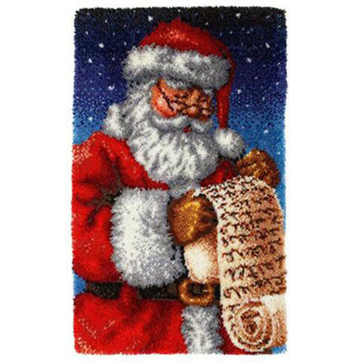 "GEX Latch Hook Kit Rug 43*27"" DIY Craft Needle Carpet Embroidery  Santa Claus-"