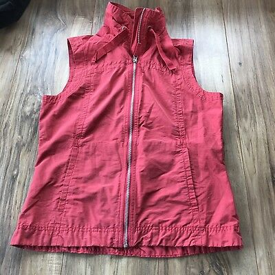 Womens Columbia Hiking Trails Outdoor Active Vest Coral Pink Size Small
