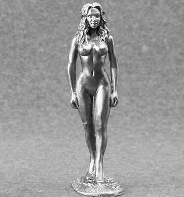Sexy Girl Figurines Toy Soldiers 1/32 Erotic Nude Lady 54mm Metal Naked Female
