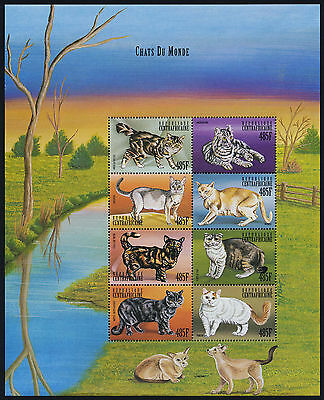 Central Africa 1285 MNH Cats