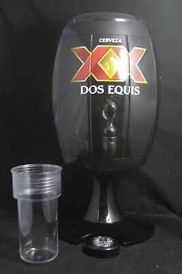 NEW Dos Equis Beer Dispenser With Tap, Lights, Unique Rare Man Cave NEVER USED!!