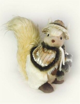 Victorian Trading Co Mrs. Bushytail Plush Albino Squirrel Doll Free Ship NIB