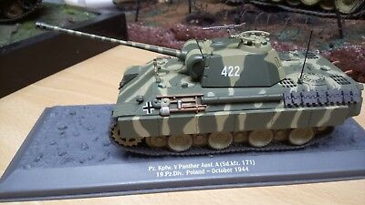 """diecast German V PANTHER Tank 1/43 new in box 8""""long"""
