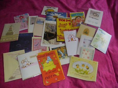 30 + Mixed Greetings Cards, Joblot - B'day, baby, job, ages, children ALL NEW