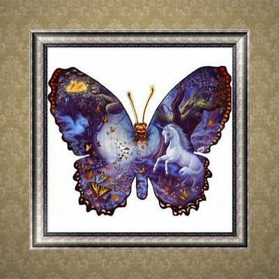 5D DIY Diamond Painting Butterfly Cross Stitch Embroidery Home Decor Craft