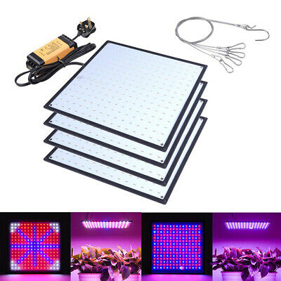 225 LED Grow Light Panel Growing Plant Veg Flower Hydroponics Indoor Lamp
