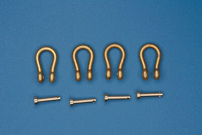 1/35 Brass Shackles (4pcs, H:9.5mm, D:6.5mm, R:1.5mm) for military vehicle