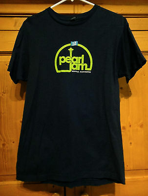 Pearl Jam Mens SZ MD Seattle Seahawks 12th Man Space Needle Navy Blue S/S Tee