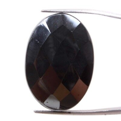 42.40 Cts Natural Hematite Checkerboard Cut Oval 29x20.50 MM A+ Loose Gemstones