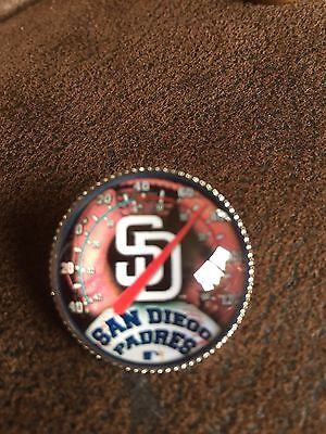 SAN DIEGO PADRES Baseball MLB Glass Fronted Raised & Unique Pin Badge Team Logo