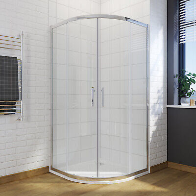 800x800/900x900 Quadrant Walk In Shower Enclosure Cubicle Sliding Door and Tray