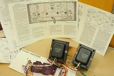 pair Dynaco ST-35 Z565 stereo tube output transformers original nice from 1960s