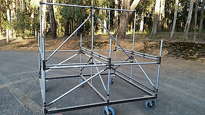 Double Sided Work Bench / Table Frame, Trilogiq System, Parts Trolley / Table