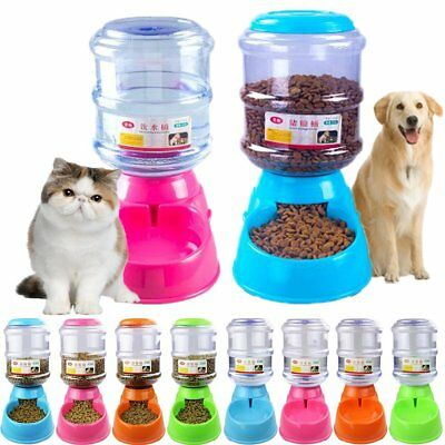 Automatic Pet Food Drink Dispenser 3.5L Large Dog Cat Feeder Water Bowl Dish