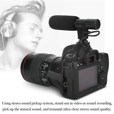 Professional 3.5mm Recording Camera DV Camcorder Microphone Mic Studio Video CAM