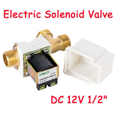 "DC12V 1/2"" Electric Solenoid Valve for Water Air N/C Normally Closed 0.02-0.8Mpa"