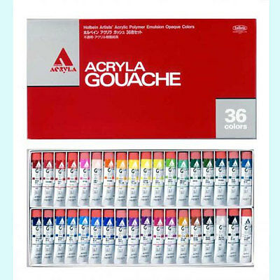 Holbein Artists'  Gouache Opaque Water Colors 36 Colors Set Brand-New Japan
