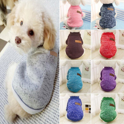 Dog Puppy Cat Warm Clothes Coats Apparel Jumper Sweater Knitwear Costume Hoodie