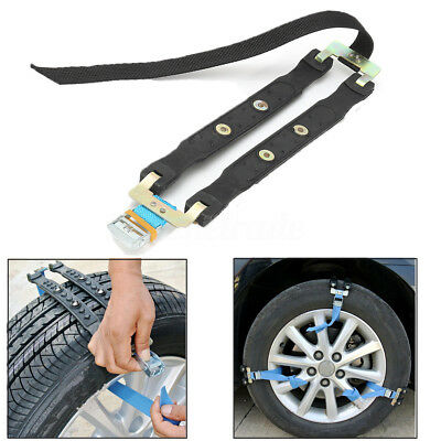 UK Safety Anti-skid Car Snow Tyre Tire Chains Beef Tendon Thickened Wheel Chain