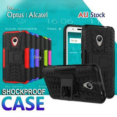 Heavy Duty Tough Kickstand Strong Case Cover For Optus X Spirit / Alcatel U5