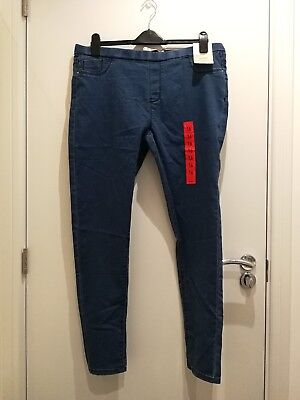 Primark Blue Denim Look Stretch Skinny Jegging BNWT UK 16