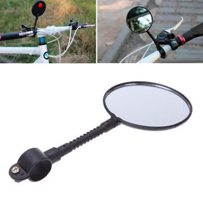 Quality Bike Bicycle Handlebar Flexible Rear Back View Rearview Mirror Black