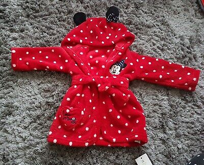 BNWT george minnie mouse dressing gown 3-6months