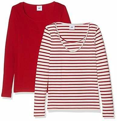 MAMALICIOUS Mllea Organic Nell L/s Mix Top Nf 2-Pack, Camicia Umstandslangarm D