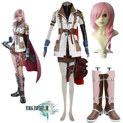 Hot Final Fantasy XIII Lightning Cosplay Costume Full Suit Costume Any Size