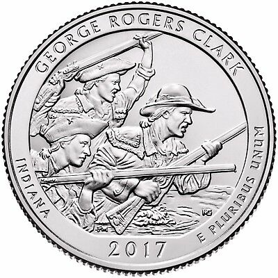 2017 Atb George Rogers Clark Nat Historic Park P&d Quarter Set - Available Now