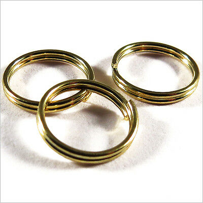 Lot 20 Rings DOUBLE mounting 10mm Metal Golden
