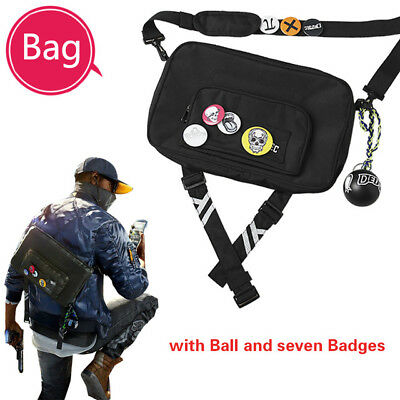 Hot Game Watch Dogs 2 Marcus Holloway Dedsec Cosplay Shouder Crossbody Bags