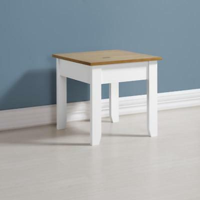 Ludlow Lamp Side Table in White/Oak Lacquer