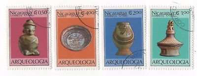 Nicaragua-1983 Archaeological Findings,Used Stamps